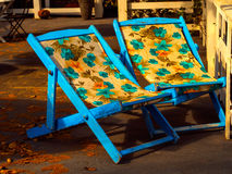 Chairs in Beach Resort Royalty Free Stock Image