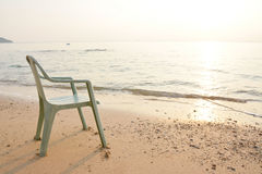 Chairs on the beach Stock Images