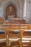 Chairs and bibles in the church. Stock Image