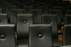 Chairs - Black seats Royalty Free Stock Photos
