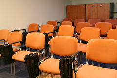 Chairs in bussiness room. Redy for people Stock Photos
