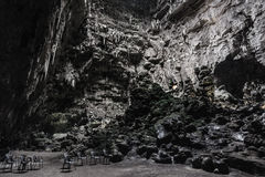 Chairs in the cave Royalty Free Stock Photography