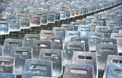 Chairs....chairs.... Chairs at the Vatican Square immediately after newspaper was chosen Royalty Free Stock Photography