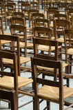 Chairs in a church in Paris, France Royalty Free Stock Photo