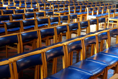Chairs in a church Royalty Free Stock Photos
