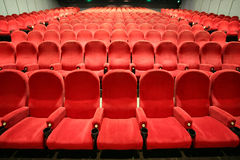 Chairs in a cinema Royalty Free Stock Photos