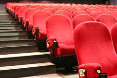 Chairs in a cinema Royalty Free Stock Images