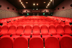 Chairs in a cinema Stock Photography