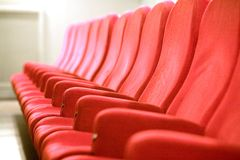 Chairs in the cinema Royalty Free Stock Photography
