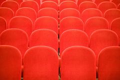Chairs in the cinema royalty free stock images