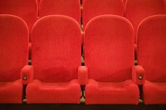 Chairs in the cinema Stock Image