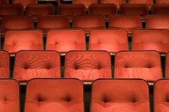 Chairs in the cinema Stock Images