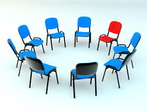 Chairs in the circle Stock Photos