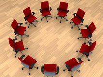 Chairs in circle Royalty Free Stock Photo