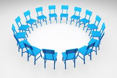 Chairs Circle Royalty Free Stock Photography