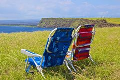 Chairs cliff Stock Photo