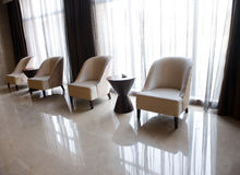 Chairs close to window Royalty Free Stock Image