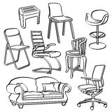 Chairs Collection Royalty Free Stock Image