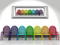 The chairs of color Royalty Free Stock Image