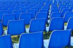Chairs before a concert Stock Photo