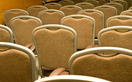 Chairs in the conference hall Stock Photo