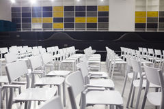 Chairs in conference-hall Stock Photography