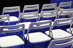 Chairs in conference hall Royalty Free Stock Image