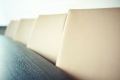 Chairs in conference room, close up and shallow depth of field - Stock Images