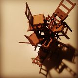 Chairs construction. Filters, chairs constructions. Wood Stock Photography