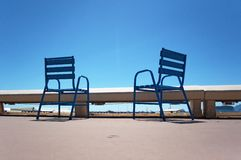 Chairs on the Croisette in Cannes Stock Photos