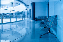 Chairs and curved corridor Royalty Free Stock Photo