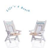chairs däck två Royaltyfria Bilder