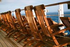 chairs däcket Arkivbild