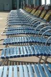 chairs däcket Arkivfoton