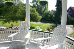 chairs däcket Royaltyfri Fotografi