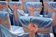 Chairs in the decorations for the wedding celebration Royalty Free Stock Photography