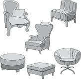 chairs den gråa utgångspunkten Royaltyfri Foto