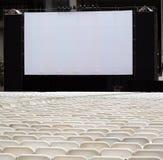chairs den stora utomhus- skärmen Arkivfoto
