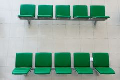 Chairs in departure hall Stock Image