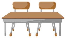 Chairs and desk Royalty Free Stock Photos