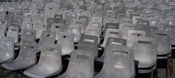 Chairs diagonally arranged stock image