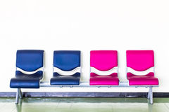 Chairs of different colors. Royalty Free Stock Photography