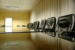 Chairs in the empty board room Royalty Free Stock Image
