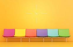 chairs färgrika watches Arkivbild