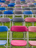 Chairs in a Field - Outdoor Event Stock Photography
