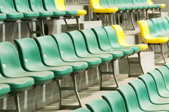 Chairs at the football Stadium in shanghai Royalty Free Stock Image