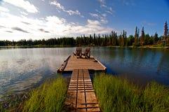 chairs fridfull dockfront Arkivbilder