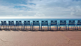 Chairs in front of the sea Royalty Free Stock Photography