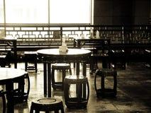 chairs gammala shanghai Arkivfoton