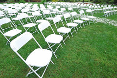Chairs in the garden Stock Image